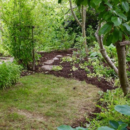 Lätt att rensa bort gräset från en vanvårdad gräsmatta