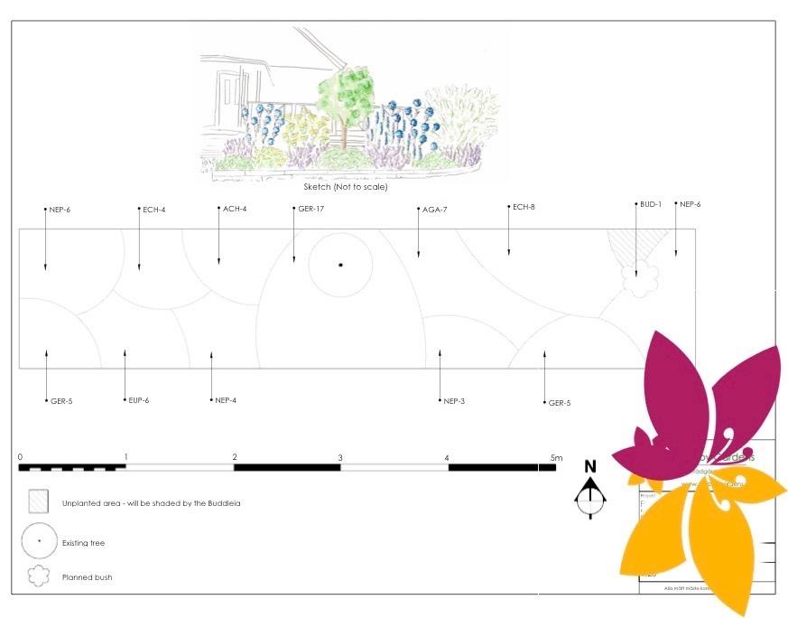 Design för rabatt i söderläge - Trädgårdsdesign Skogås