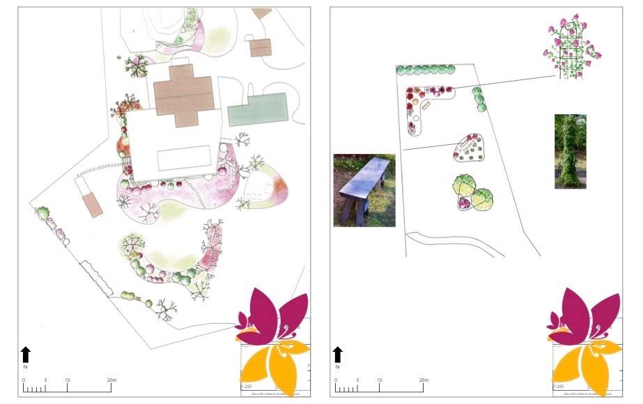 Illustrationsplaner Trädgårdsdesign Vaxholm